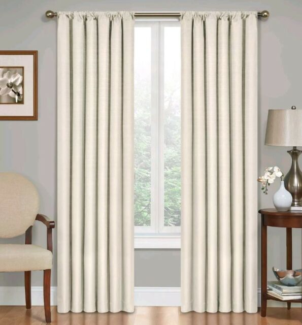 Eclipse Kendall Rod Pocket Thermal Blackout Curtain Panel, Ivory Regarding Eclipse Kendall Blackout Window Curtain Panels (#14 of 19)