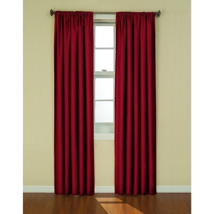 Eclipse Kendall Thermaback Blackout Curtain Panel Pertaining To Thermaback Blackout Window Curtains (#18 of 36)