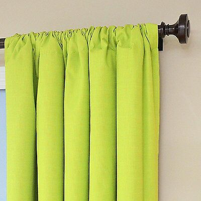 Eclipse Kids Kendall Blackout Thermal Curtain Panel,lime,63 Pertaining To Eclipse Newport Blackout Curtain Panels (View 21 of 41)