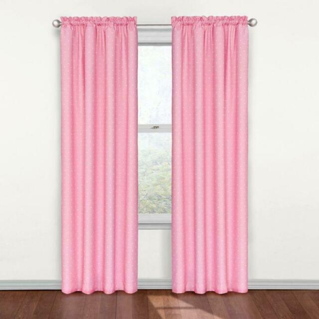 """Eclipse Kids Polka Dots Blackout Window Curtain Panel, Pink, 42""""x84"""", New Inside Thermaback Blackout Window Curtains (#19 of 36)"""