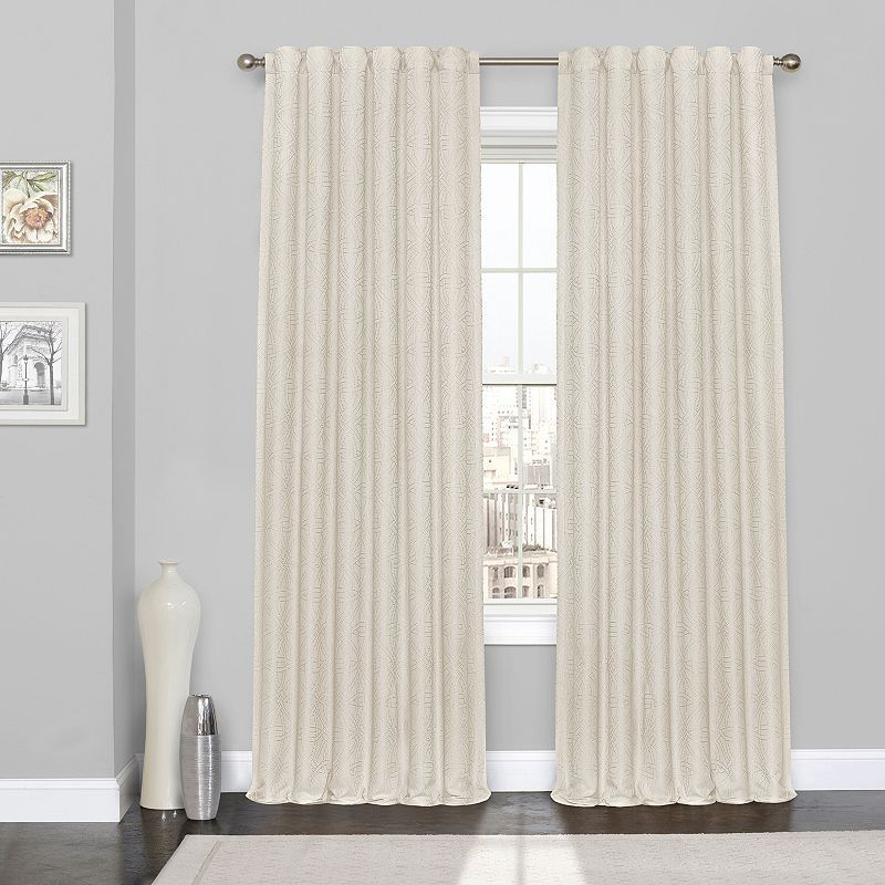 Eclipse Kiernan Thermalayer Blackout Window Curtain | No Sew For Eclipse Trevi Blackout Grommet Window Curtain Panels (View 9 of 26)