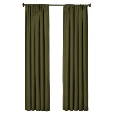 Eclipse Meridian Blackout Window Curtain Panel In Black – 42 With Meridian Blackout Window Curtain Panels (#19 of 50)