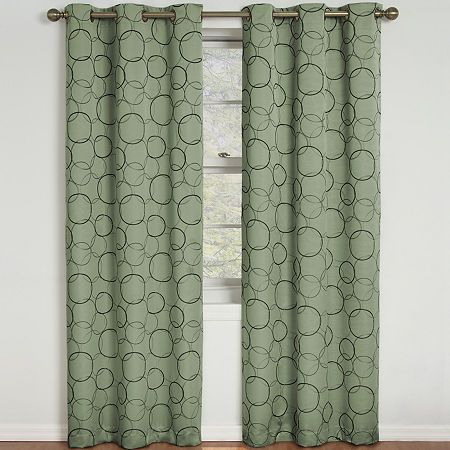 Eclipse Meridian Grommet Top Blackout Curtain Panel With Meridian Blackout Window Curtain Panels (#25 of 50)