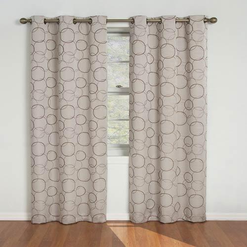 Eclipse Meridian Linen Blackout Window Curtain Panel Within Thermaback Blackout Window Curtains (#20 of 36)
