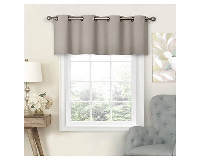Eclipse – Nadya Solid Blackout Grommet Window Valance – 52 X Intended For Eclipse Trevi Blackout Grommet Window Curtain Panels (View 6 of 26)