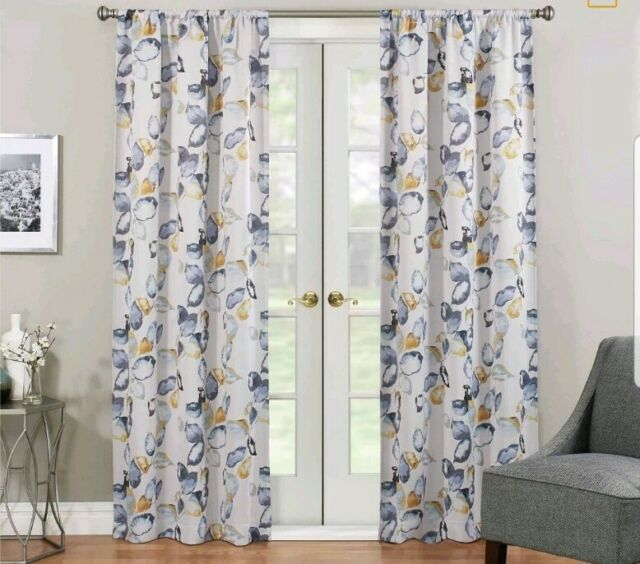 Eclipse Paige Panel Blackout Curtain Panel 37 X 63 Yellow Blue Grey Set Of 2 With Regard To Eclipse Newport Blackout Curtain Panels (View 25 of 41)