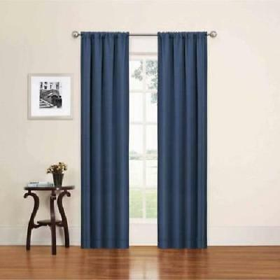 "Eclipse Phoenix Blackout Window Curtain Panel Pair  Indigo 74"" X 95"" 