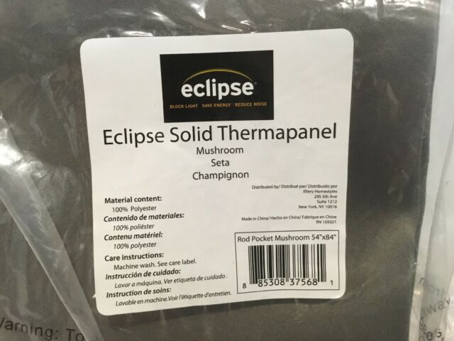 Eclipse Solid Thermapanel Room Darkening Curtain, Mushroom, 54X84 Pertaining To Eclipse Solid Thermapanel Room Darkening Single Panel (#17 of 31)