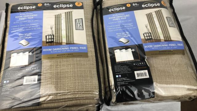 "Eclipse Solid Thermapanel Room Darkening Curtain Panel Pair 52"" X 84"" Inside Eclipse Solid Thermapanel Room Darkening Single Panel (#12 of 31)"