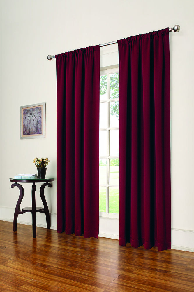 Eclipse Solid Thermapanel Room Darkening Curtains, Red, 54 Intended For Eclipse Solid Thermapanel Room Darkening Single Panel (#19 of 31)