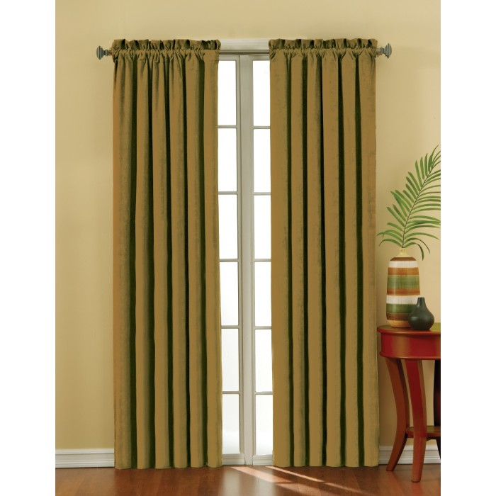 Eclipse Suede Thermaback Blackout Curtain Panel Regarding Thermaback Blackout Window Curtains (#23 of 36)