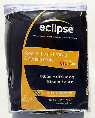 Eclipse Thermaweave Grommet Blackout Window Polyester Curtain Panel 52 X  95 Inch 885308318725 | Ebay With Regard To Eclipse Darrell Thermaweave Blackout Window Curtain Panels (View 33 of 50)