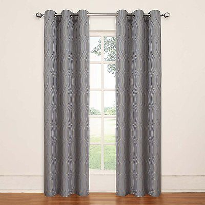 Eclipse Tremont Blackout Grommet Window Panel, Grey | Ebay For Eclipse Trevi Blackout Grommet Window Curtain Panels (View 11 of 26)