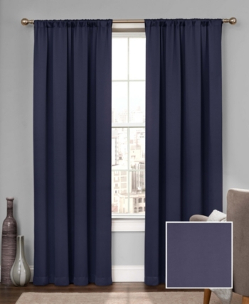 "Eclipse Tricia Thermapanel Room Darkening 52"" X 95"" Curtain Inside Eclipse Solid Thermapanel Room Darkening Single Panel (#23 of 31)"