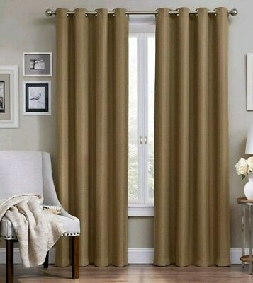 """Eclipse Wyndham Thermaweave Blackout Grommet Curtain Panel – Latte 52"""" X  95"""" 885308219220 