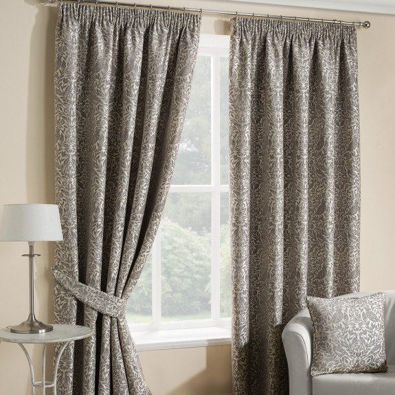 Eden Steeple Grey Pencil Pleat Curtains Intended For Solid Cotton Pleated Curtains (#16 of 50)