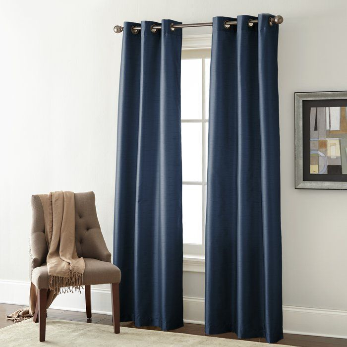Edison Solid Room Darkening Grommet Curtain Panels Intended For Sugar Creek Grommet Top Loha Linen Window Curtain Panel Pairs (View 18 of 50)