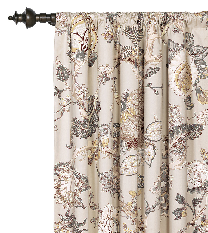 Edith Curtain Panel In Grey Printed Curtain Panels (View 12 of 48)