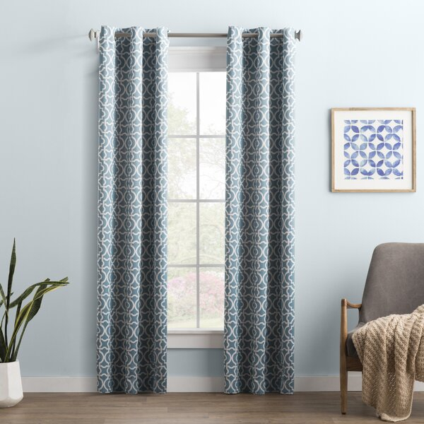 Edward Trellis Curtains | Wayfair Intended For Edward Moroccan Pattern Room Darkening Curtain Panel Pairs (View 10 of 50)