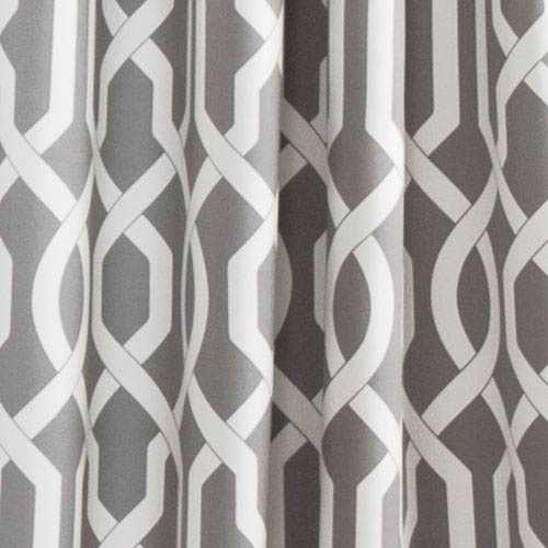 Edward Trellis Gray 95 Inch X 52 Inch Panel Pair Pertaining To Edward Moroccan Pattern Room Darkening Curtain Panel Pairs (View 11 of 50)