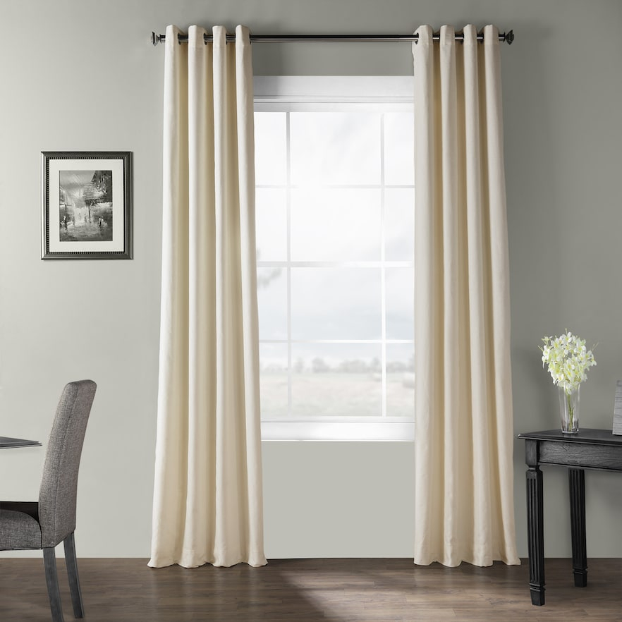 Eff Bark Weave Solid Grommet Window Curtain In 2019 In Solid Country Cotton Linen Weave Curtain Panels (#13 of 50)