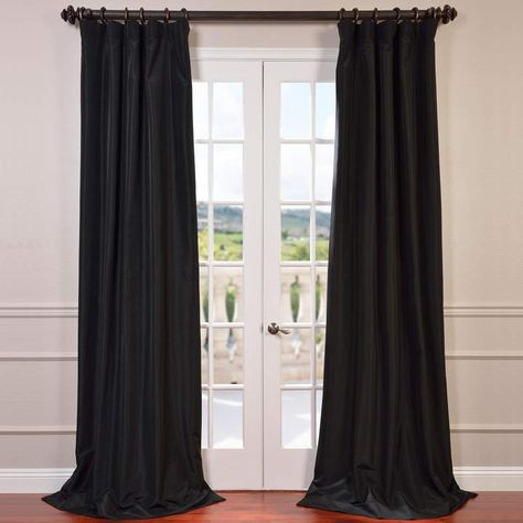 Eff Blackout 1 Panel Faux Silk Taffeta Window Curtain In Vue Elements Priya Tab Top Window Curtains (View 10 of 36)
