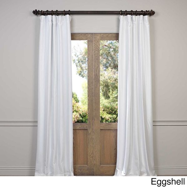 Eff Faux Silk Taffeta Solid Blackout Curtain Panel | Final In Faux Silk Taffeta Solid Blackout Single Curtain Panels (View 5 of 50)