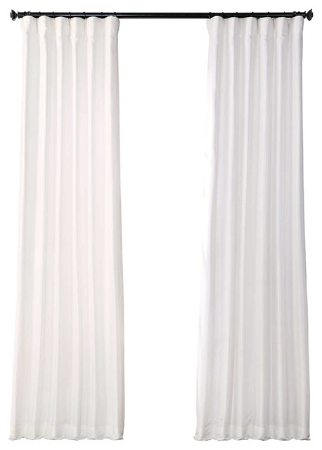 "Eggshell Blackout Fauxsilk Taffeta Curtain Single Panel, 50""x108"" Throughout Faux Silk Taffeta Solid Blackout Single Curtain Panels (View 6 of 50)"