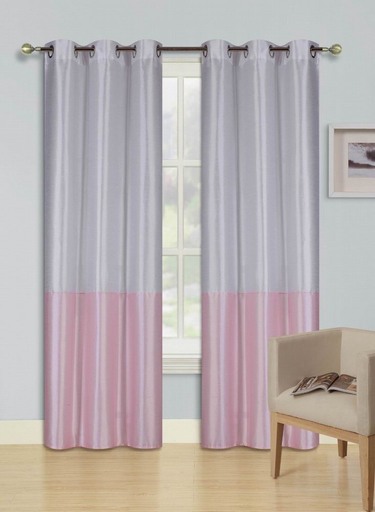 Eid White Light Pink Insulated Lined Blackout Grommet Window Pertaining To Insulated Blackout Grommet Window Curtain Panel Pairs (#13 of 37)