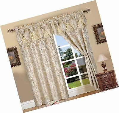 Elegant Comfort Penelopie Jacquard Look Curtain Panel Set Regarding Elegant Comfort Luxury Penelopie Jacquard Window Curtain Panel Pairs (View 19 of 50)