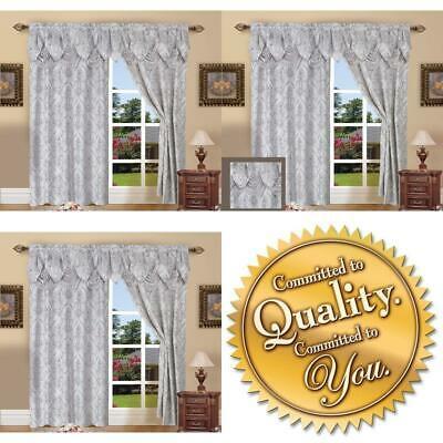 Elegant Comfort Penelopie Jacquard Look Curtain Panel Set Throughout Elegant Comfort Luxury Penelopie Jacquard Window Curtain Panel Pairs (View 20 of 50)