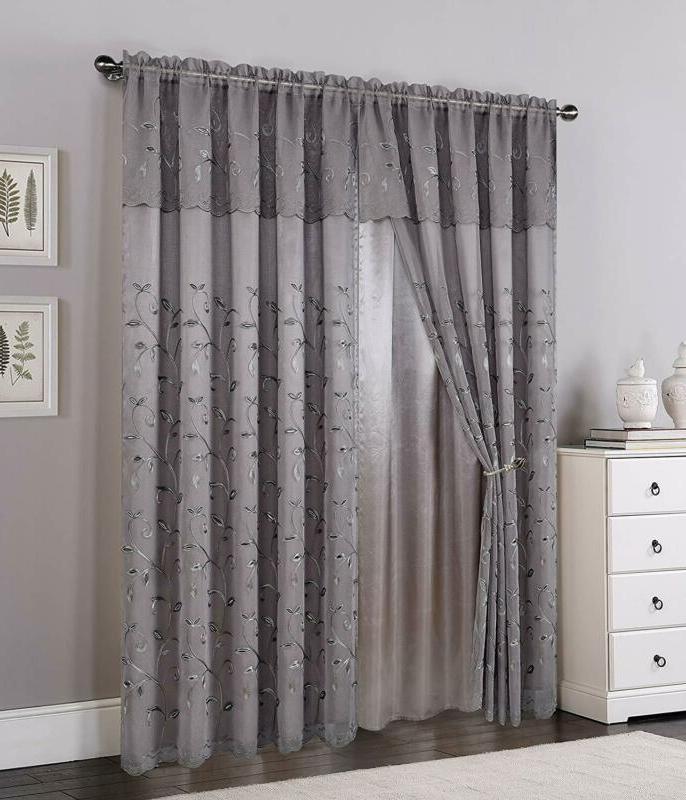 Elegant Comfort Window Curtains | Window Curtains With Regard To Elegant Comfort Luxury Penelopie Jacquard Window Curtain Panel Pairs (View 23 of 50)