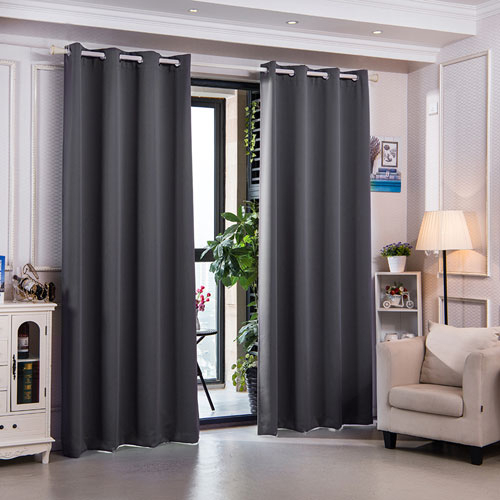 Elegant Home Fashions 84 Inch Sparta Premium Solid Insulated Thermal Blackout Grommet Window Panels, Dove Grey Regarding Solid Insulated Thermal Blackout Long Length Curtain Panel Pairs (View 17 of 50)