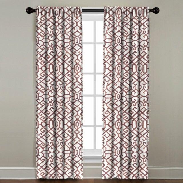 Elena Window Panel Pertaining To Miranda Haus Labrea Damask Jacquard Grommet Curtain Panels (View 6 of 7)