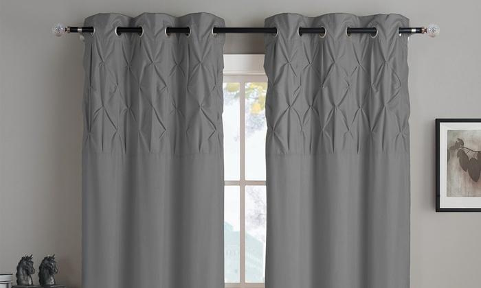 Ella Grommet Lined Window Panel Pair | Groupon In Ella Window Curtain Panels (View 17 of 50)