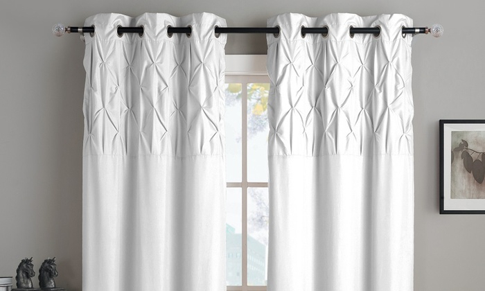 Ella Grommet Lined Window Panel Pair | Groupon With Ella Window Curtain Panels (View 18 of 50)