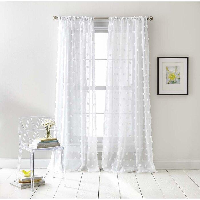 Ella Sheer Rod Pocket Curtain Panels With Rod Pocket Curtain Panels (View 10 of 34)