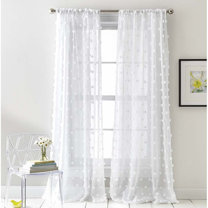 Ella Sheer Rod Pocket Curtain Panels Within Double Layer Sheer White Single Curtain Panels (View 25 of 50)