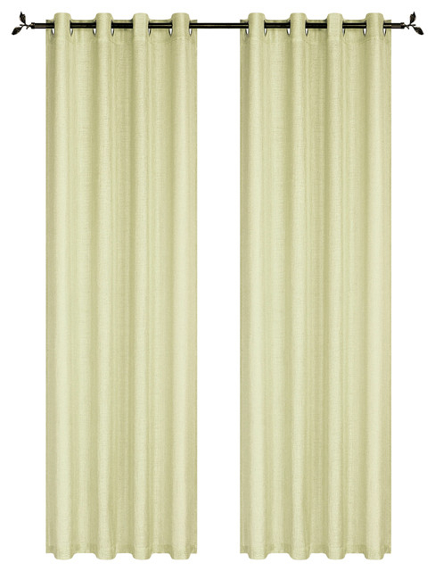 "Ellen Tracy Spectrum Extra Wide Window Curtain Panel Pair, 84""x108"", Yellow In Signature Extrawide Double Layer Sheer Curtain Panels (#19 of 50)"