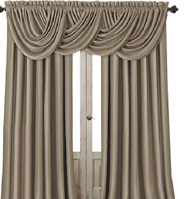 "*elrene All Seasons Rod Pocket/back Tab Curtain Panel 52""x84"" Taupe New  26865854022   Ebay With Elrene Mia Jacquard Blackout Curtain Panels (View 1 of 37)"