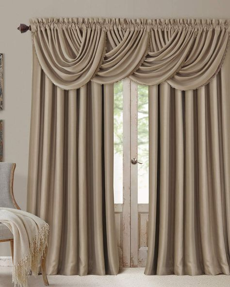 Elrene All Seasons Window Panel | Le Château Français De With Elrene Versailles Pleated Blackout Curtain Panels (View 9 of 38)