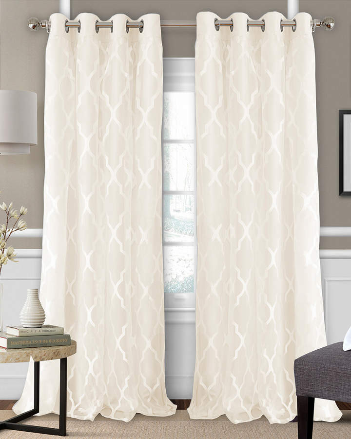 Elrene Bethany Blackout Window Curtain Panel | Products In In Bethany Sheer Overlay Blackout Window Curtains (View 9 of 50)