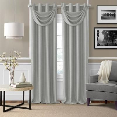Elrene Bethany Sheer Overlay Blackout Window Curtain, Gray Regarding Bethany Sheer Overlay Blackout Window Curtains (View 13 of 50)