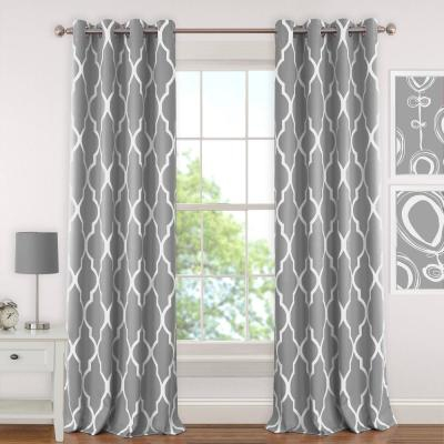Elrene Bethany Sheer Overlay Blackout Window Curtain, Gray Within Bethany Sheer Overlay Blackout Window Curtains (View 14 of 50)