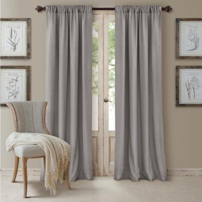 Elrene Brooke Blackout Window Curtain 22787Tau – The Home Depot For Bethany Sheer Overlay Blackout Window Curtains (View 15 of 50)