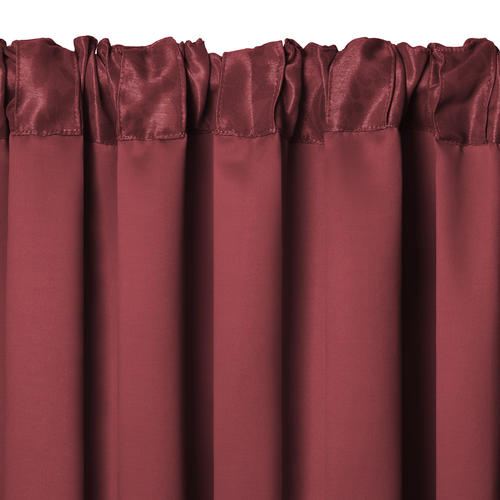 Elrene Home Fashions Antonia Blackout Rod Pocket Curtain Pertaining To Rod Pocket Curtain Panels (View 11 of 34)