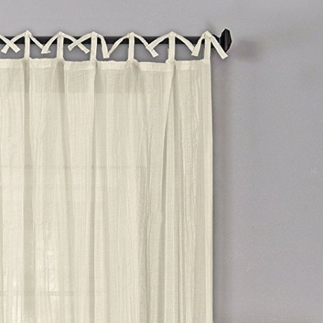 "Elrene Home Fashions Jolie 108"" L, 1 Tie Top Loop Curtain In Elrene Jolie Tie Top Curtain Panels (#9 of 35)"