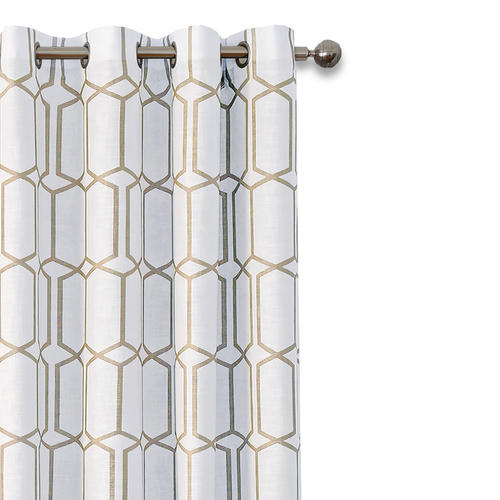 Elrene Home Fashions Kaiden Grommet Blackout Curtain Panel For Kaiden Geometric Room Darkening Window Curtains (View 14 of 39)