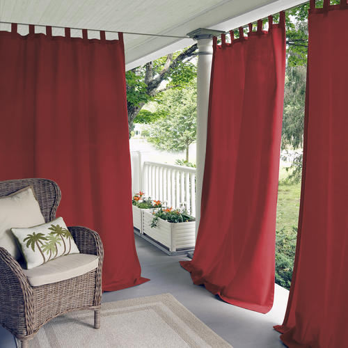 Elrene Home Fashions Matine Indoor/outdoor Tab Top Curtain For Matine Indoor/outdoor Curtain Panels (#11 of 50)