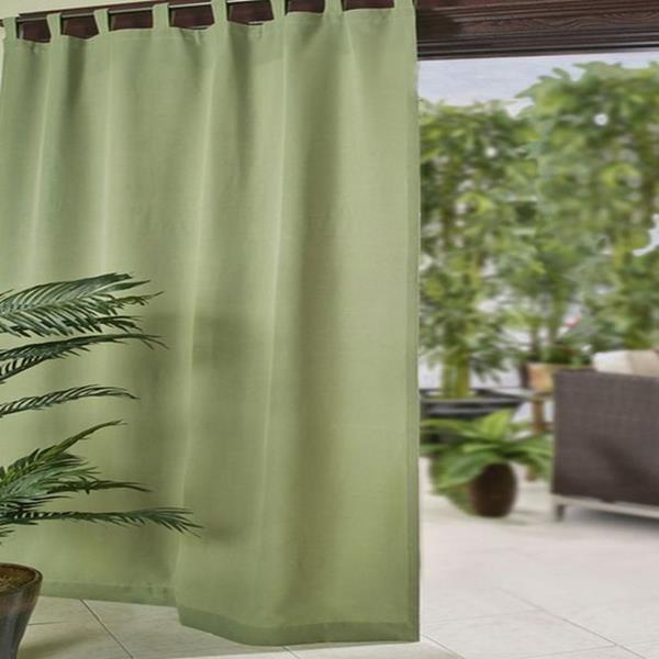 Elrene Home Matine Green 52X84 Velcro Tab Top Indoor Outdoor For Matine Indoor/outdoor Curtain Panels (#13 of 50)